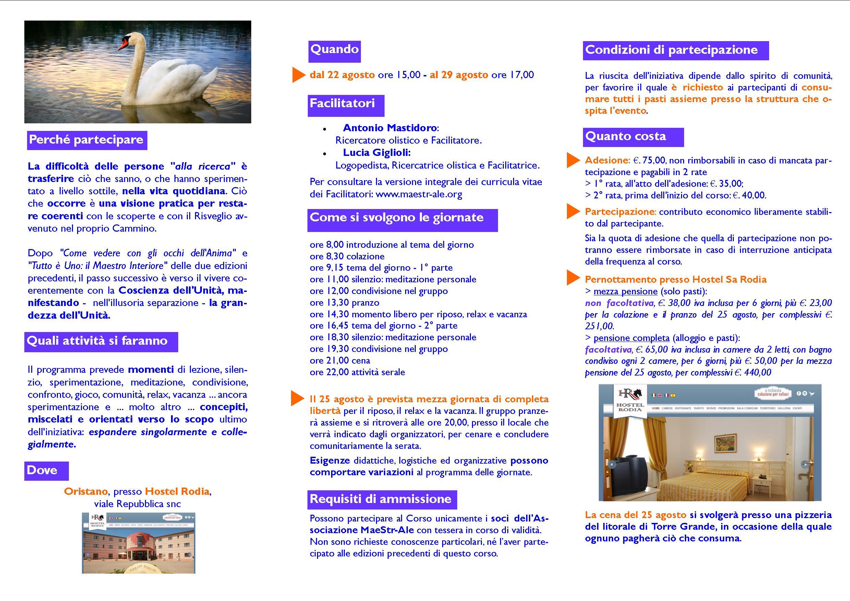 Brouchure Corso residenziale 2020 COME VIVERE COERENTEMENTE CON CHI REALMENTE SONO pag2